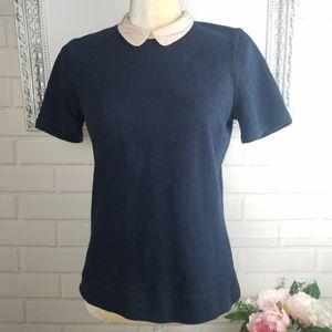 J.Crew navy blue short sleeve top size xs